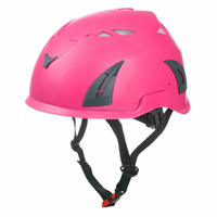 Pink safety helmet with EN397