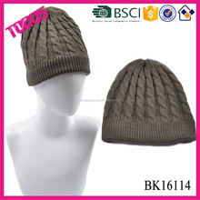 Acrylic knit mens beanie hat