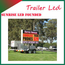 P10 truck LED display for street video advertising ail express P10 full color video mobile truck led display