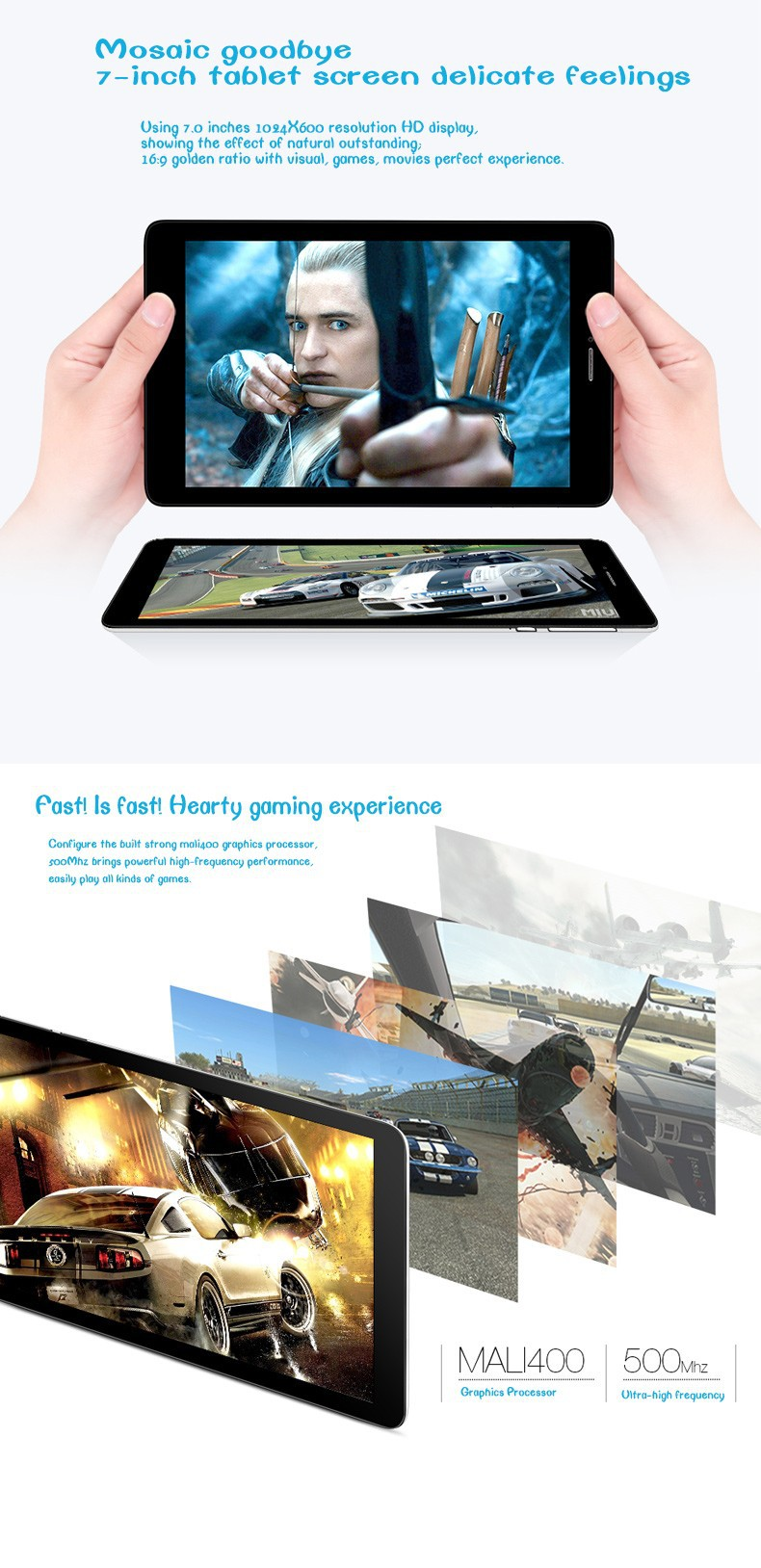 TECLAST G17s 3G Tablet PC MTK8382 Quad-core 1.3GHz Android 4.2 512MB/8GB WIFI Bluetooth GPS Dual Cameras OTG