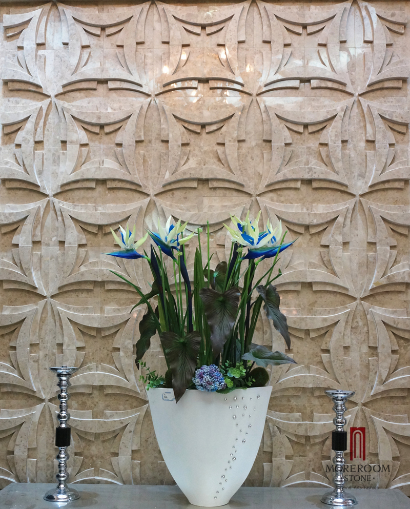MPC178R-H08-1 Turkish Cappuccino Marble Stone Marble wall panel CNC WALL TILES 3D DECOR  MOREROOM STONE.jpg
