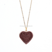 hot sale practical photo frame cooper heart-shaped necklaces