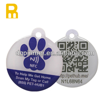 First class quality PVC NFC dog tag with QR code for your pets
