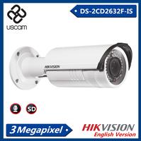 Hikvision 3.0 Megapixel 2.8-12mm IP66 IP Bullet Camera, CCTV Camera with Sound DS-2CD2632F-IS