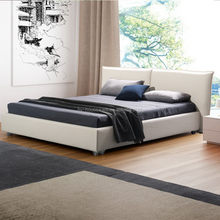 2015 Cheaper promotional genuine leather modern bed