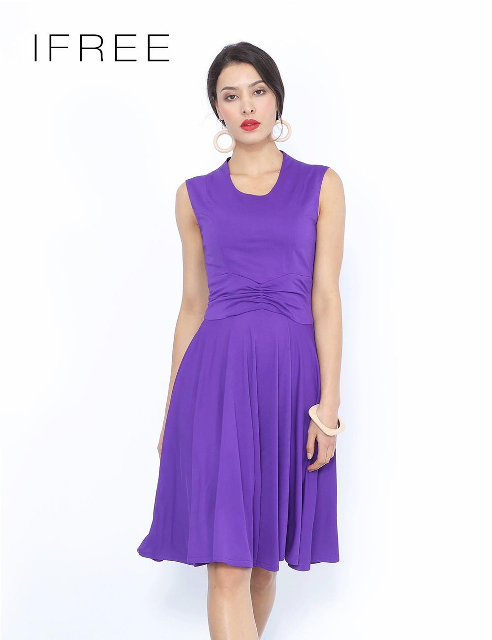Guangzhou alta calidad tela púrpura sin mangas casual señoras ...