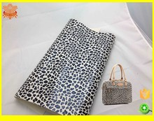 fashion leopard print PU leather for bag