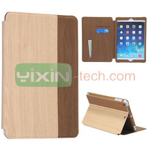 Wood Pattern Stand Flip Leather Case for iPad Mini Retina