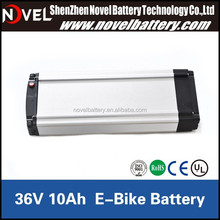2015 Hot sale lifepo4 36V 10Ah E-bike battery
