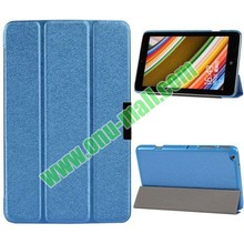 New arrival best seller 3-folding PU leather filp cover for lenovo A3500 case with Holder