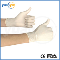 Medical grade safety powder-free dental obstetric disposable medical latex examination gloves