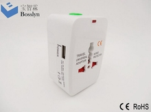 Top quality promotional uk to eu travel adapter with 2 usb