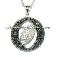 2012 Elegant 925 sterling silver pendant, high quality micro pave setting, best Rhodium Plated jewelry