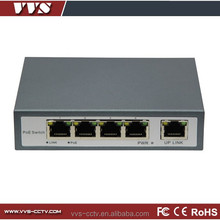 5 port network poe switch 24v with 4 ports poe ports