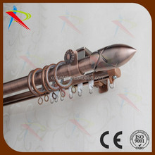 Unique hot sell flexible germany dual curtain rail .rod wholesale