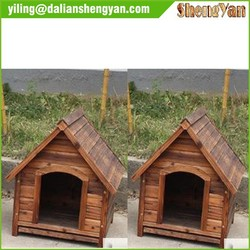 Out door weather resistant wooden dog cages