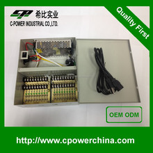 OEM ODM New Design 12V 10A 18CHs ac/dc power supply Override protection 120w dc regulated power supply