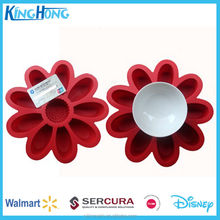 Popular Compare Round/Rectangle/Rose flower Shape handmade silicone cake molds,sedex approval factory
