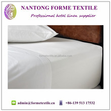 White fitted bed sheet for hotel industry