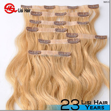 """Top Quality Thick Deluxe Clip hair 18/20/22/24"""" 125g/ 190g/210/280gram one piece full head clip in hair extensions"""