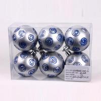 wholesale silver plastic christmas ball popular xmas silk ball ornament