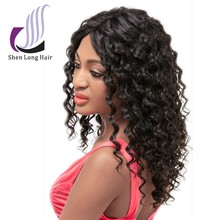 China manufacturer human hair thin skin top lace wig , wholesale cheap peruvian lace wig , unprocessed finger wave wig
