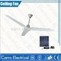 Recién llegado piezas del ventilador de techo de 12V DC, dolbe potencia ventiladores solar y batería
