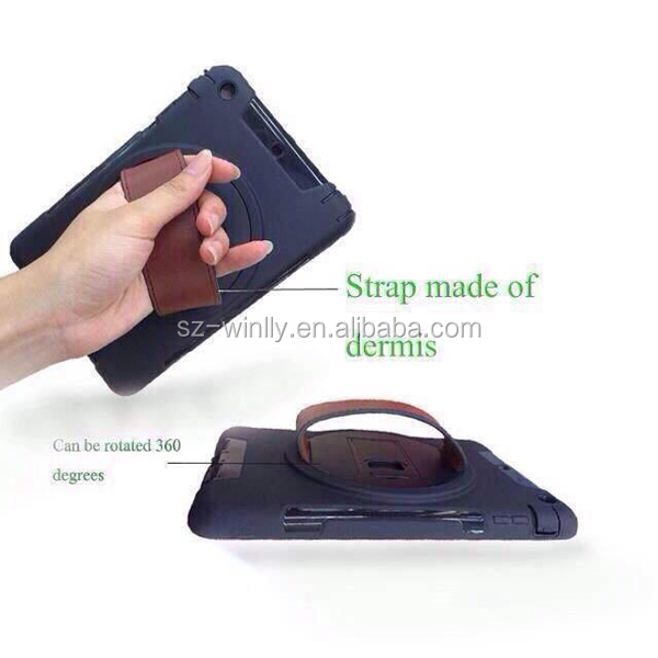 360 Rotating Hand Holder Kickstand Case For IPAD MINI,360 degree rotate for ipad air for iPad 2/3/4 case