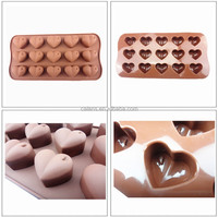 Fondant Chocolate Accessory Mold and Cake Decorating - Heart Shaped