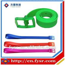 Candy color silicone rubber belt for Young people