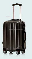 PC+ABS luggage/Black TSA combination lock upright/ double wheel carry-on/ trolley case with expander 20'/24'/28'