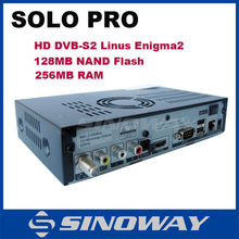 SOLO PRO HD satellite receiver tv box BCM7325 DVB-S2 tuner Enigma 2 Linux PVR sharing Youtube Accept paypal Sat box
