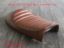 HONDA CG 125 BROWN CAFE RACER SEAT HARLEY SPORTSTER STYLE 1976 1977 MOTORCYCLE