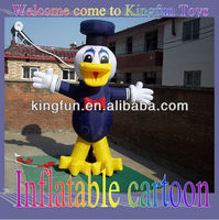 Inflatable duck cartoon for advertising