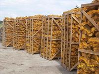 Oak firewood in net bags