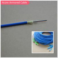 4core flexible optical fiber armoured cable