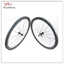 24 inch carbon fiber bicycle parts wheels, 38mm deep 25mm wide carbon tubular road wheelset 1190g/set UD Matte