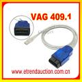 Nuevos productos 2015 precio competitivo VAG COM 409.1 / VAG COM 409.1 KKL VAG 409.1 OBD2 Cable USB herramienta de diagnóstico del coche