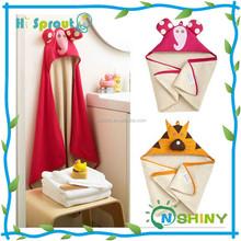 Retail boy girl Animal Baby bathrobe/baby hooded bath towel/kids bath terry children infant bathing