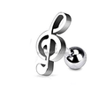fantezi paslanmaz çelik müzik sarmal kulak kıkırdak piercing küpe
