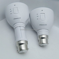 AC 85-265V LED Magic bulb with remote controller ,White Emergency Light with Rechargeable Built-in Battery E27 Lamp for Home