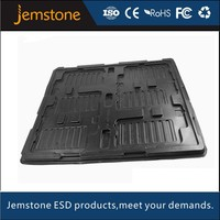 Black ESD tray for electronic products packaging