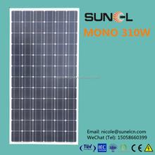 high power solar cell panels 310 watt mono