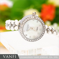 Fashion Lady Girl Pearl Bracelet Watches