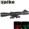 C3-9X40EG Optical Hunting air rifle Gun Rifle Scope with green laser sight/ hunting riflescopes with laser sight