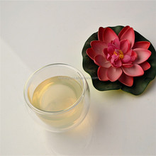 High Quality Hand Made Double Wall wholesale glass tea cup