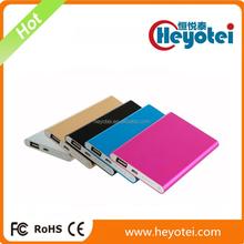 Credit Card Size Ultra-thin Aluminium 4000mAh Portable Charger Power Bank Smart Phone Battery Life Extender