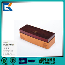 Wholesale customized handmade durable leather writing / pen / stationery case for hotel supplies
