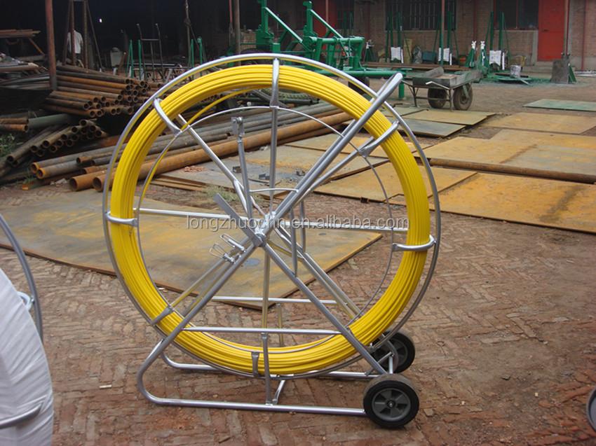 Fiberglass cable conduit rod fiber optic meter mark