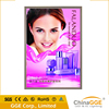Wall mounted aluminum alloy indoor advertising display poster picture lighting frame